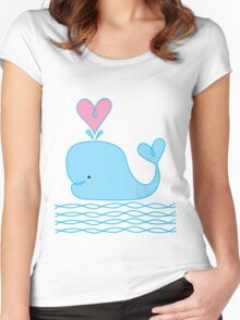 Cute Whale Women's Fitted Scoop T-Shirt