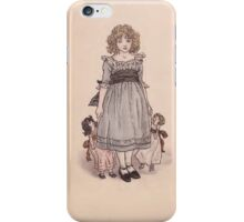 Vintage Girl with Dolls iPhone Case/Skin