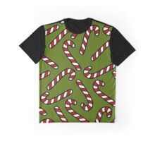 Candy Cane Pattern Graphic T-Shirt