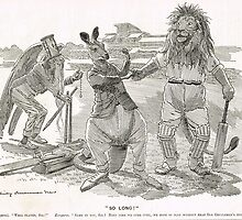Ashes Cricket Punch cartoon 1899 W G Grace by artfromthepast