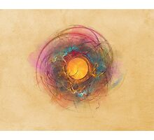 Sun Fractal Abstract Art Photographic Print