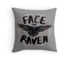 Face the Raven alternate Throw Pillow