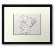 Any Beaver for Tennis?  Framed Print