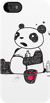 Drunk Panda Knows How to Party by cloelia165