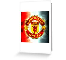manchester united fc red devils 002 Greeting Card