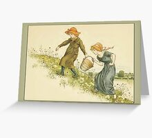 Greetings-Kate Greenaway-Jack and Jill Greeting Card