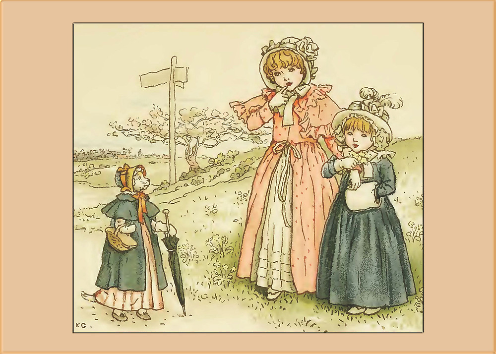 Greetings-Kate Greenaway-Pussy Cat Pussy Cat by Yesteryears