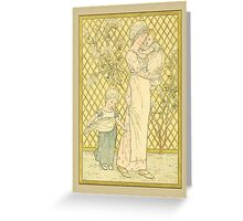 Greetings-Kate Greenaway-Mother, Infant, Toddler Greeting Card