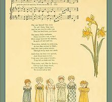 Greetings-Kate Greenaway-Merry Little Sunbeams by Yesteryears