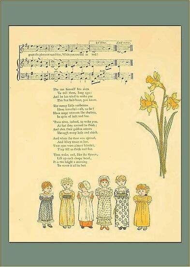 Greetings-Kate Greenaway-Merry Little Sunbeams by Yesteryears