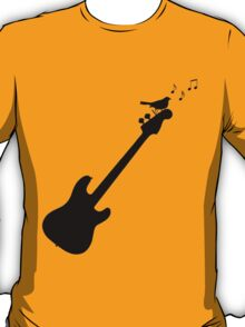 Bird Singing on a Guitar T-Shirt
