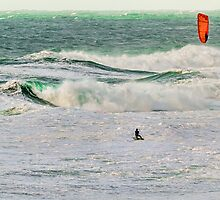 Winter Kite Surfer by Jon OConnell