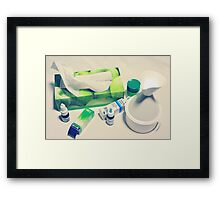 Geometry of the Flu Framed Print