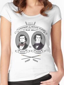 Cane Fight! Charles Sumner v. Preston Brooks Women's Fitted Scoop T-Shirt