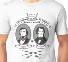Cane Fight! Charles Sumner v. Preston Brooks Unisex T-Shirt
