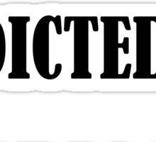 100% addicted to netflix Sticker