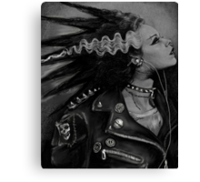 The Punk Rock Bride Canvas Print