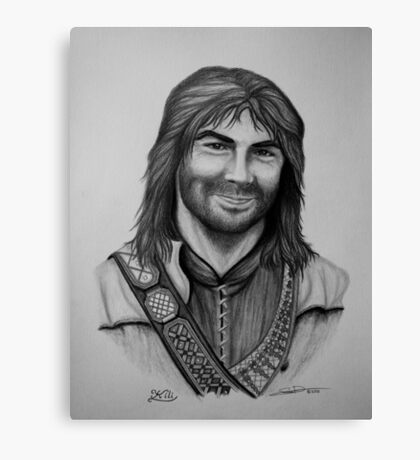 Aidan Turner as Kili from The Hobbit Trilogy Canvas Print