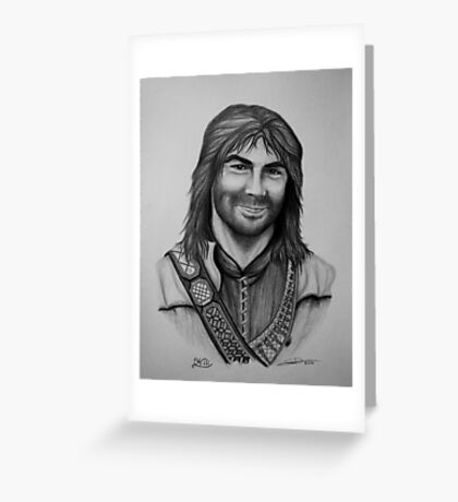 Aidan Turner as Kili from The Hobbit Trilogy Greeting Card