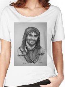 Aidan Turner as Kili from The Hobbit Trilogy Women's Relaxed Fit T-Shirt