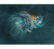 Blue Hornet Fractal Art Photographic Print