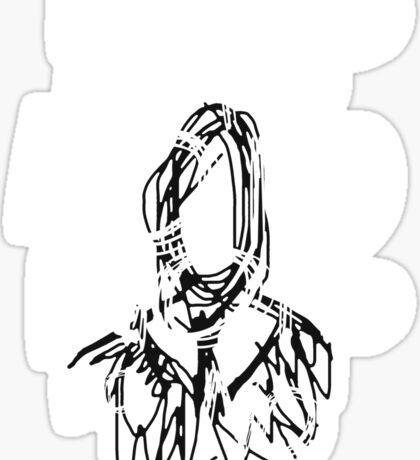 Slenderman Note Sticker