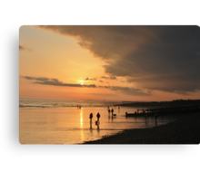 Low Tide Sunset - Hove #22 Canvas Print