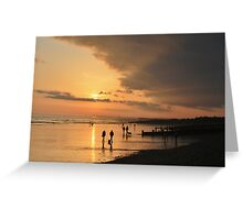 Low Tide Sunset - Hove #22 Greeting Card