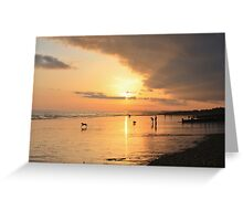 Low Tide Sunset - Hove #24 Greeting Card