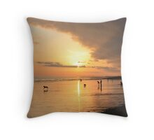 Low Tide Sunset - Hove #24 Throw Pillow