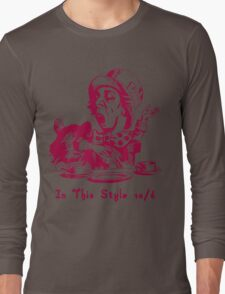 Magenta Mad Hatter In This Style Long Sleeve T-Shirt