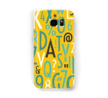 Retro Letters and Numbers Samsung Galaxy Case/Skin