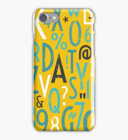Retro Letters and Numbers iPhone Case/Skin