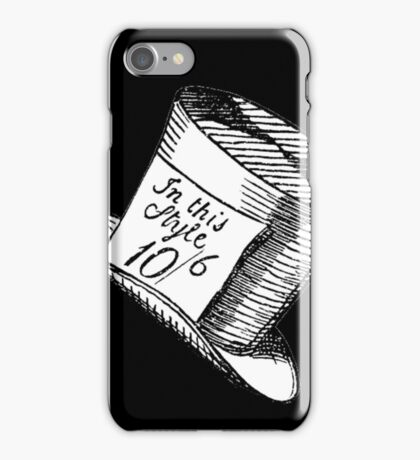 Alice in Wonderland Classic Mad Hatter Hat iPhone Case/Skin
