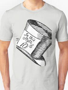 Alice in Wonderland Classic Mad Hatter Hat T-Shirt