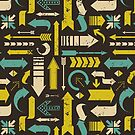 Grunge Arrows Pattern by Iveta Angelova