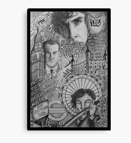 New Sherlock Dada Doll Canvas Print