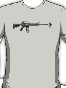 Gun with daisy  T-Shirt