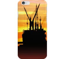 Silhouette of a fishing Vessel iPhone Case/Skin