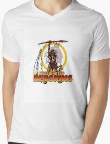 Redskins T-Shirt Mens V-Neck T-Shirt