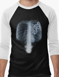 BiKE LOVE X Ray bicycle heart components Men's Baseball ¾ T-Shirt