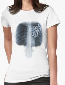 BiKE LOVE X Ray bicycle heart components Womens Fitted T-Shirt