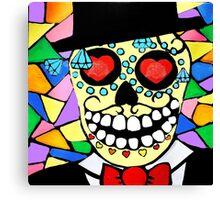 Skeleton groom Canvas Print