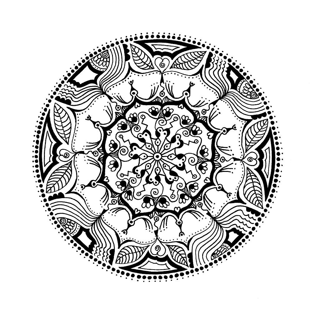 Seed Mandala by heavenlyhenna