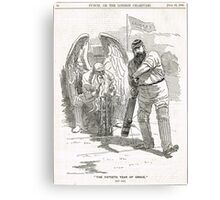 50 years of W G Grace punch cartoon 1898 Canvas Print