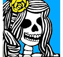 Skeleton girl Photographic Print