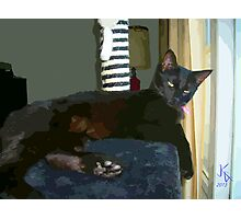 ACEO Abstract Black Cat 4 Photographic Print