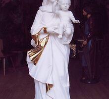 Virgin Mary woodcarving by atelierwilfried