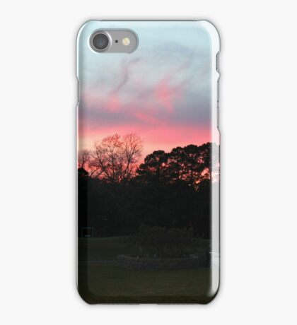 Colorful Sky Above The Trees iPhone Case/Skin