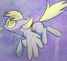 Derpy Hooves has mail (watercolor) by Dawnfire